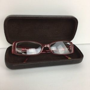 Fossil floral eyeglass frames and hard case